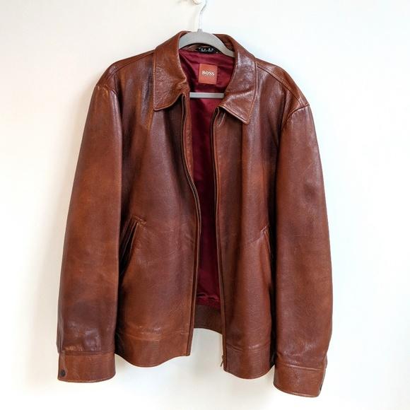 3b7abed2b Hugo Boss Jackets & Coats | Mens Leather Jacket | Poshmark